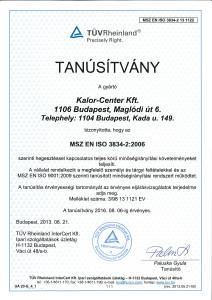 msz en iso 3834-2 uzemalkalmassagi tanusitvany2014
